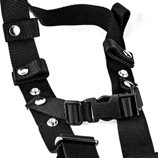 Carrying strap, textile colour black (100% polypropylene), 1,2 mm material thickness