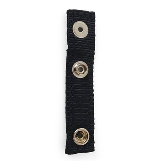 Loop for carrying strap, textile fabric, black (100% polypropylene), 1,2 mm material thickness