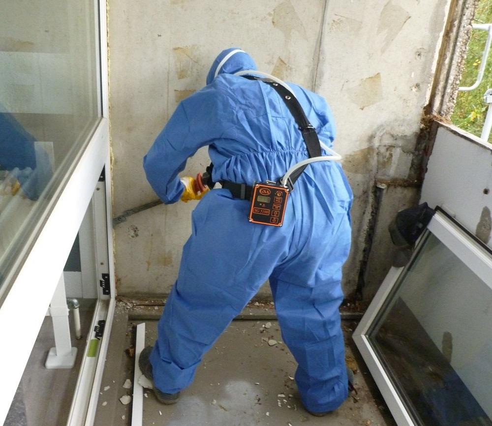 Arbeitsplatzmessung bei Sanierungsarbeiten