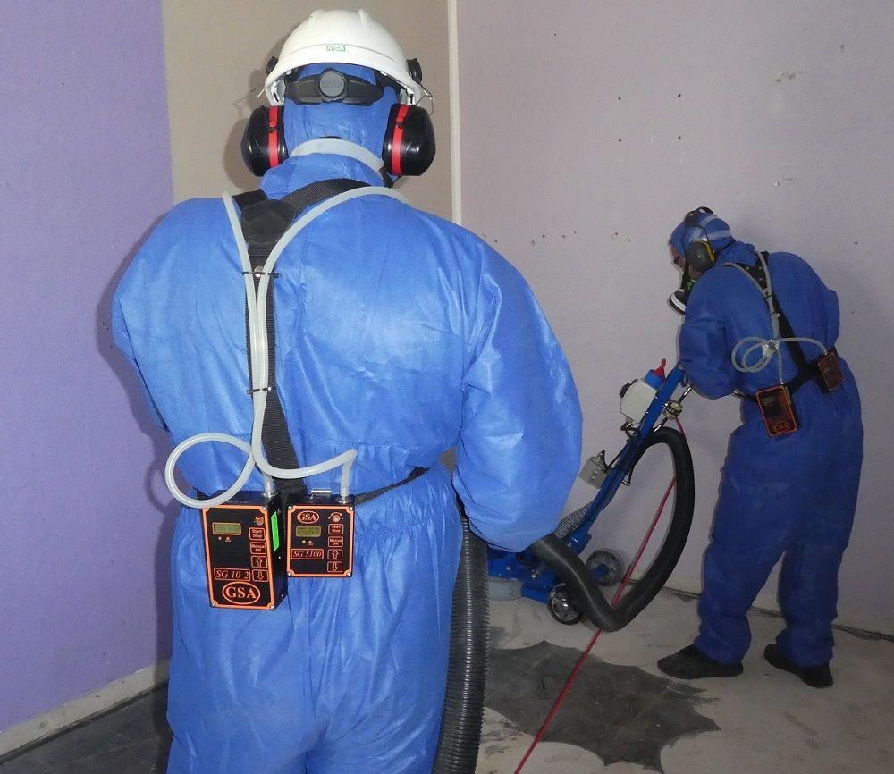 A-Staub Fasermessung bei Asbestsanierung